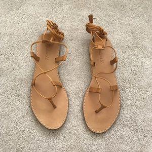 902783a74550 Madewell. Boardwalk Lace-Up Sandal. Desert Camel.